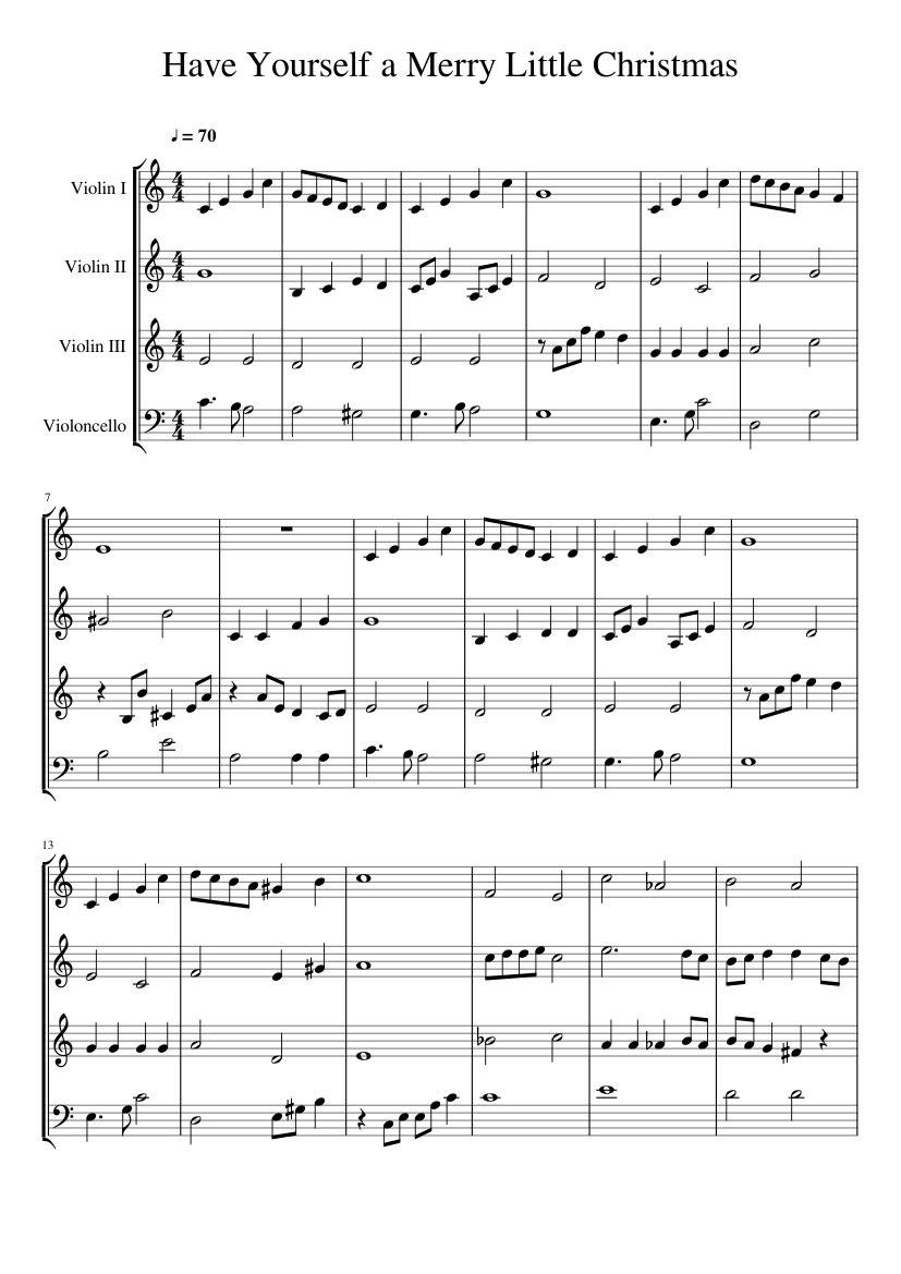 Have Yourself A Merry Little Christmas Sheet Music Pdf.Have Yourself A Merry Little Christmas Cello Sheet Music