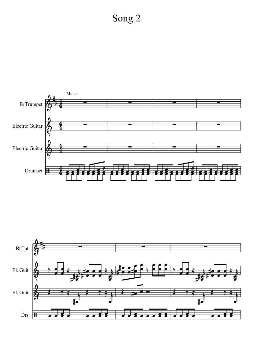 Blur Song 2 Sheet Music Download Free In PDF Or MIDI