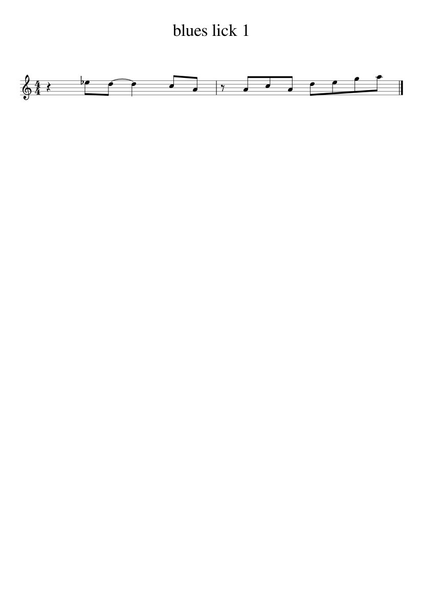 tenor sax blues lick 1 sheet music for Tenor Saxophone