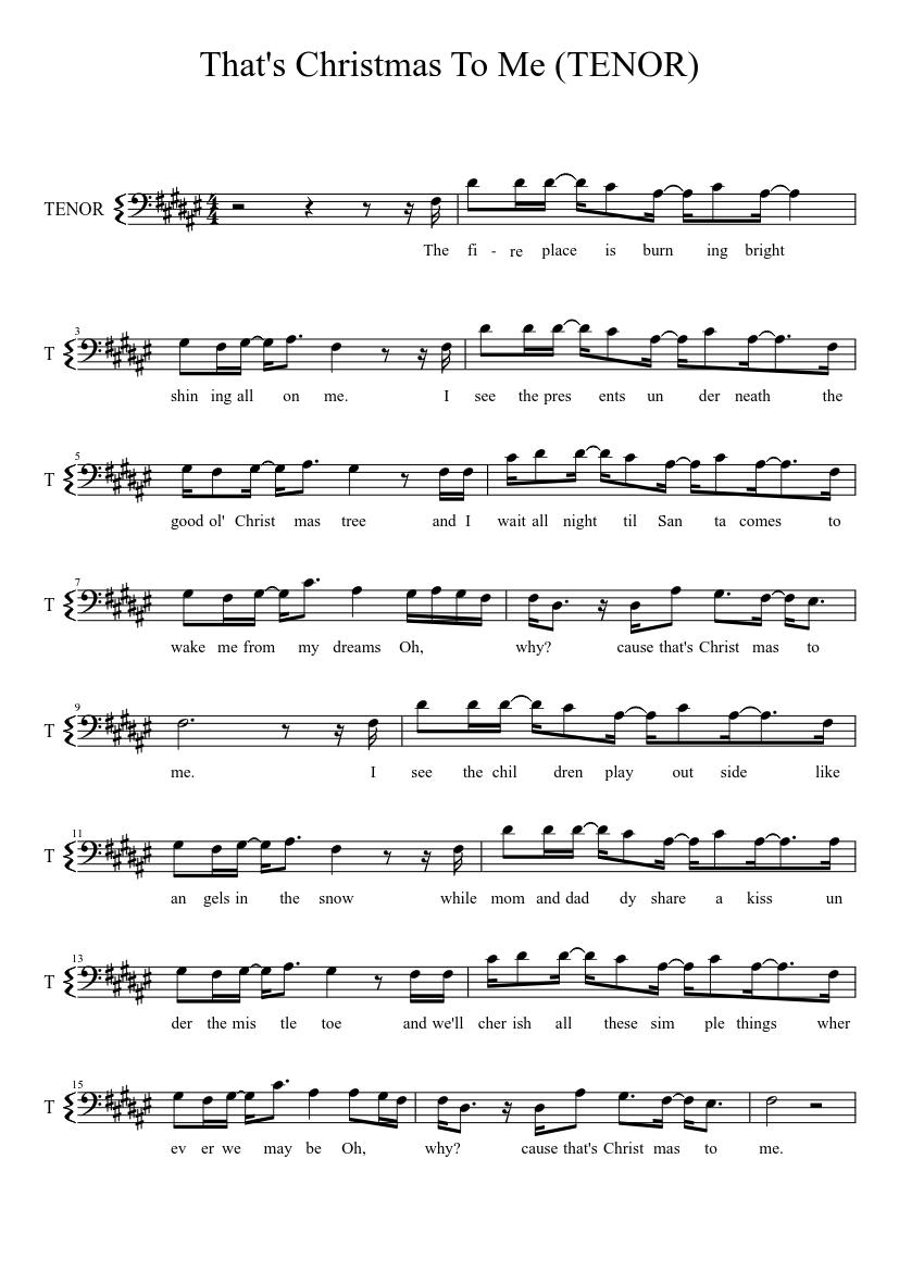 Pentatonix Thats Christmas To Me.That S Christmas To Me Pentatonix Tenor Piano Tutorial