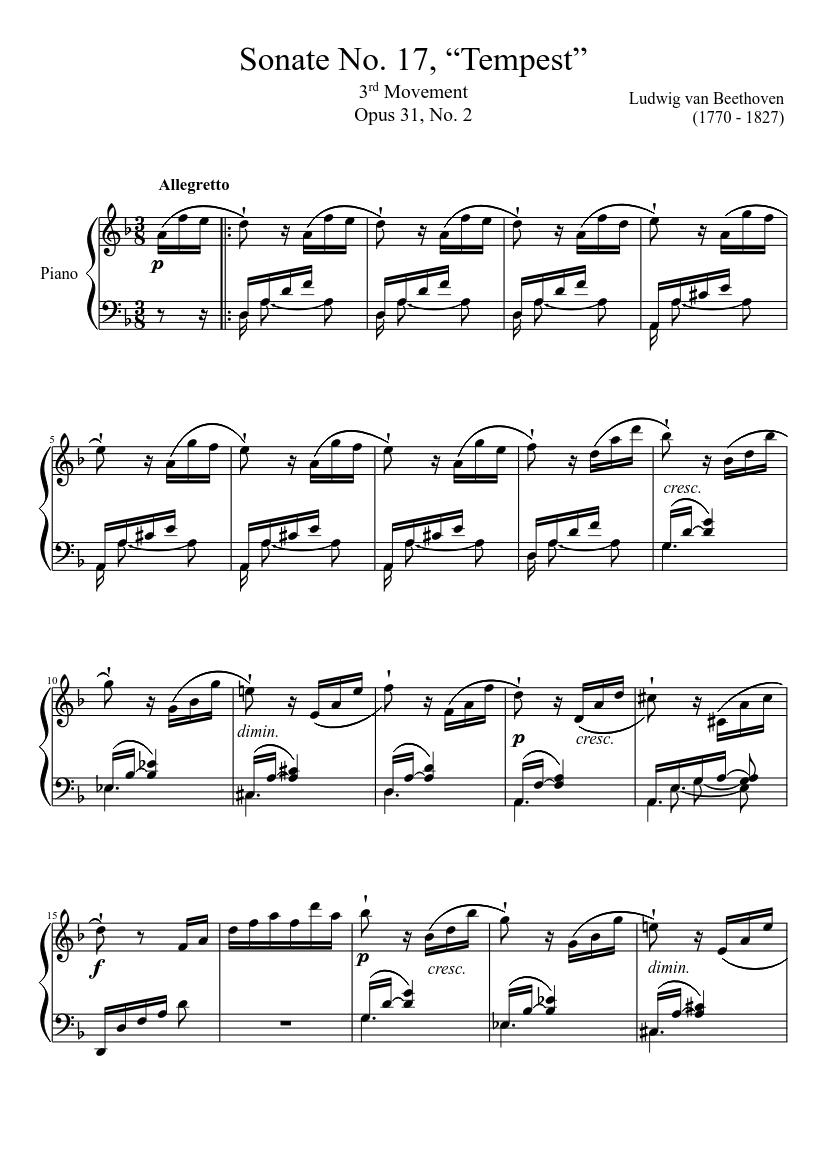 Beethoven Sturmsonate