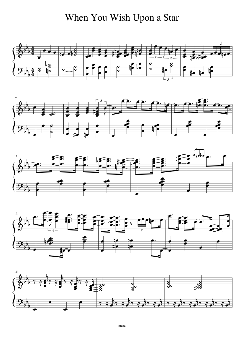 When you wish upon a star clarinet quartet sheet music for.