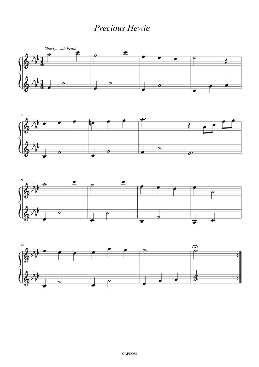 Precious Hewie (Demento/Haunting Ground) sheet music for