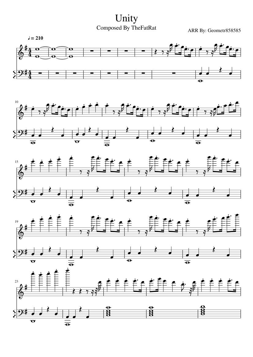 The Fat Rat Piano Sheet Music - Best Music Sheet