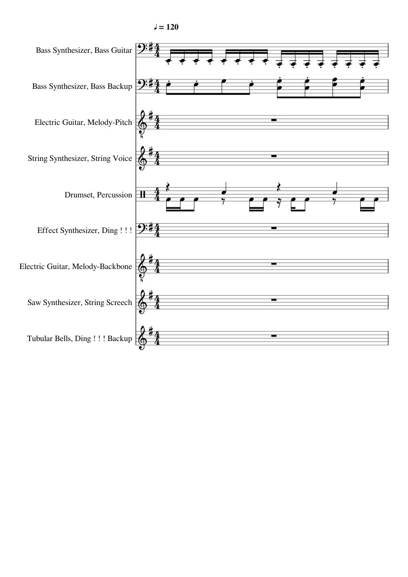 X Men Theme 90 S Cartoon Theme Sheet Music For Drum Group Guitar Tubular Bells Synthesizer More Instruments Mixed Ensemble Musescore Com