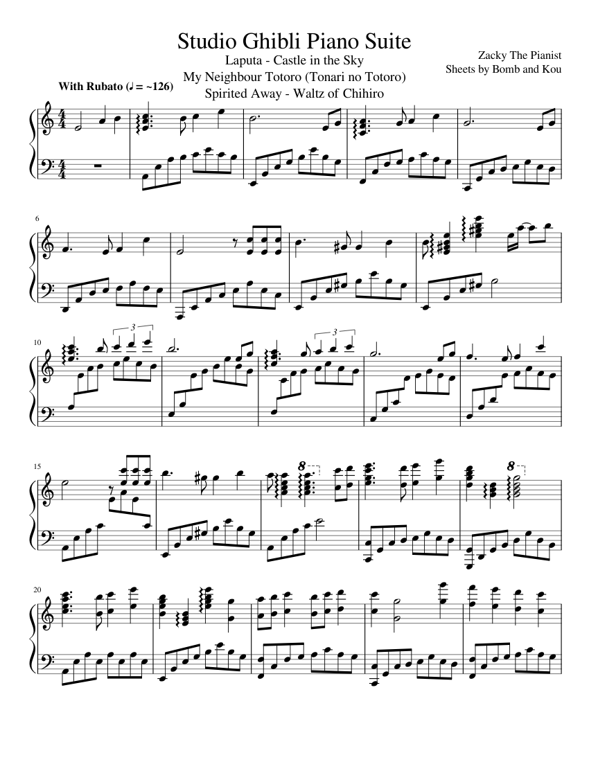 Studio ghibli medley cello sheet music for cello download free in.