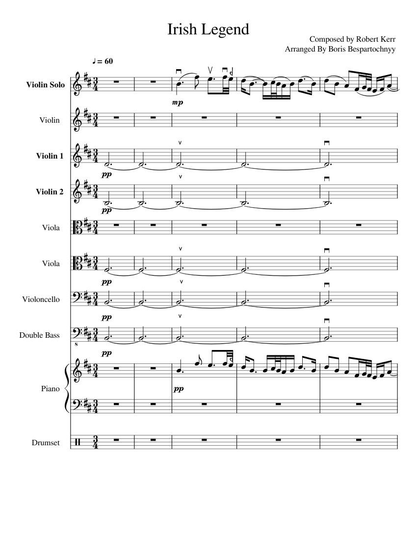 Irish Legend sheet music download free in PDF or MIDI