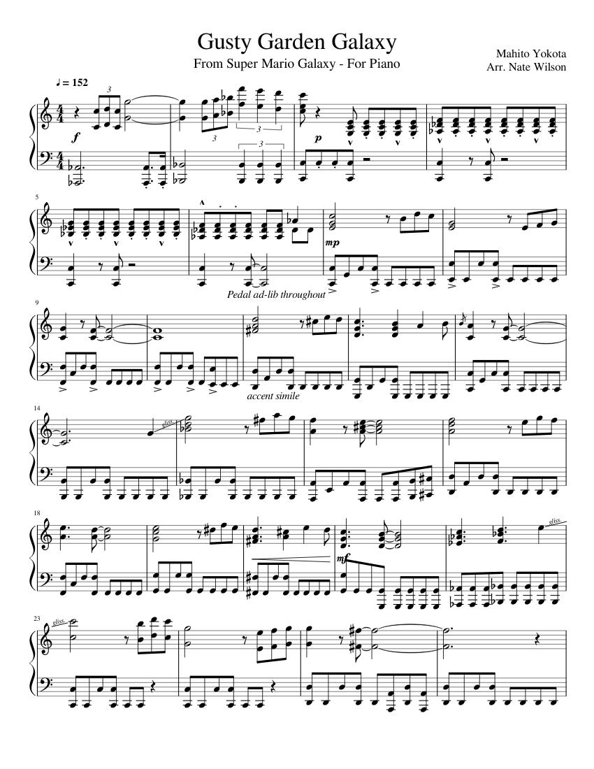 Gusty garden galaxy sheet music download free in pdf or midi.