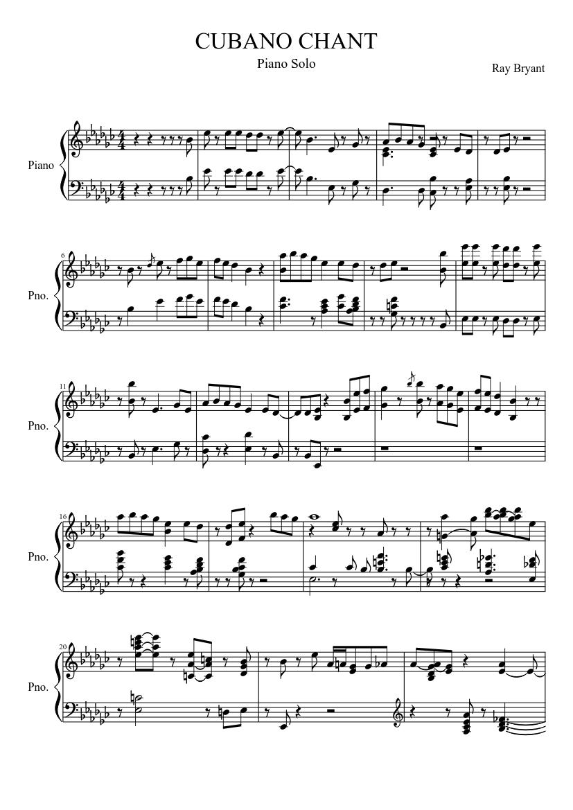 cubano chant sheet music download free in pdf or midi