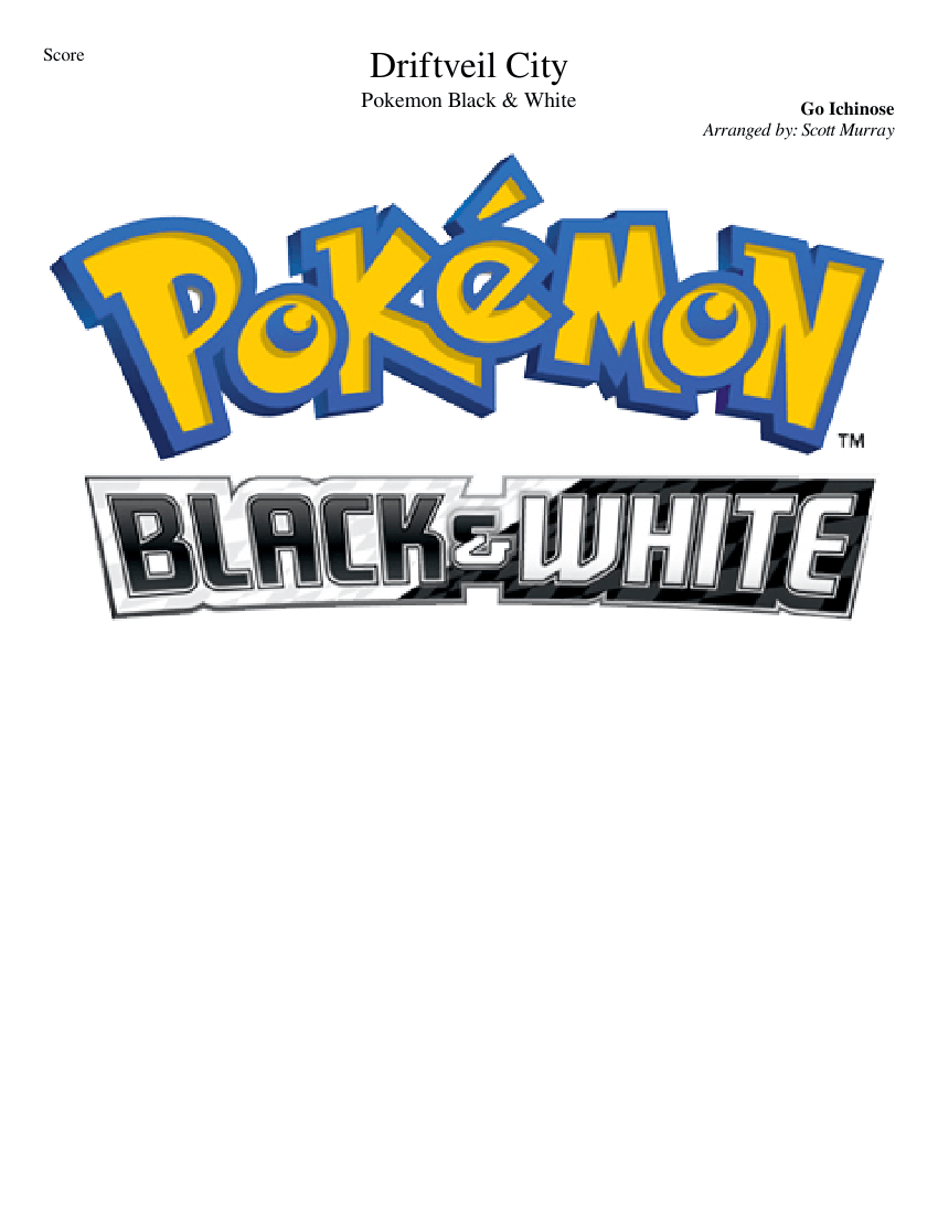 Pokemon Black White Driftveil City Sheet Music For Trumpet In B Flat Trombone Flute Drum Group More Instruments Concert Band Musescore Com Driftveil city theme on repeat be like. driftveil city sheet music for trumpet