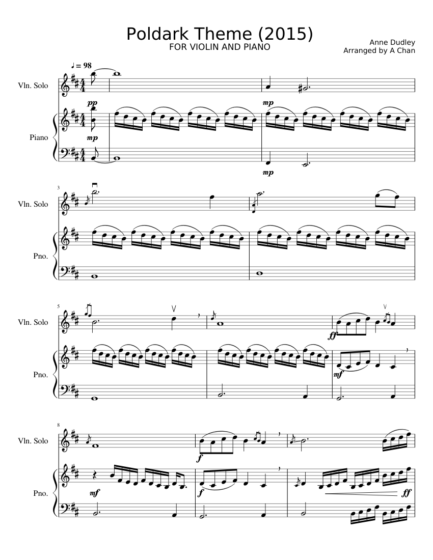 Free violin music sheets download