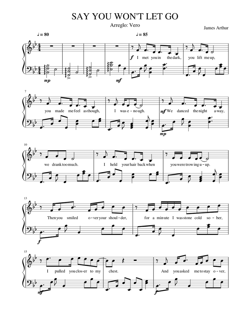 say you won t let go sheet music for piano (solo) | musescore.com  musescore.com