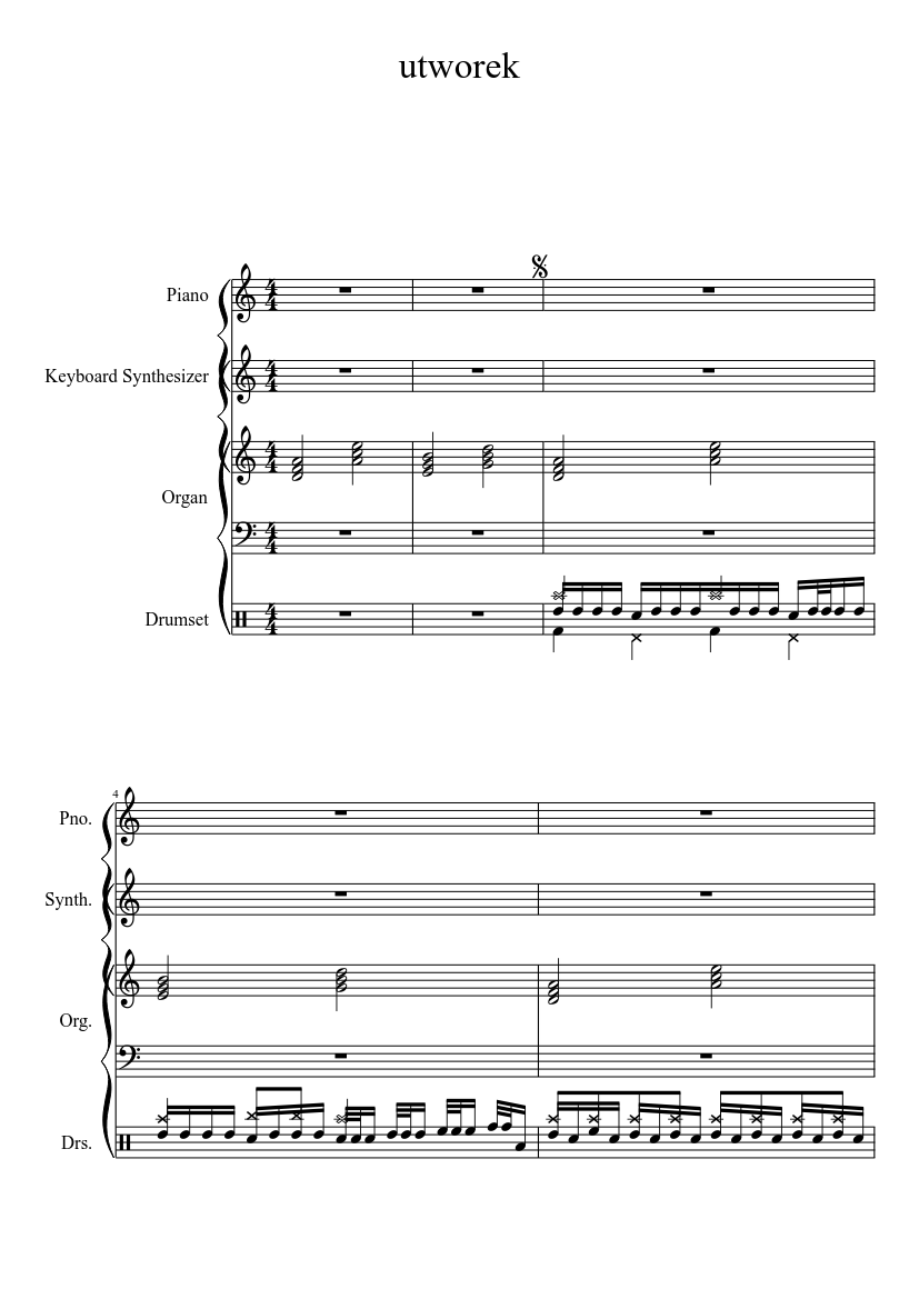 My Own Melodic Heavy Death Metal Composition Sheet Music Download
