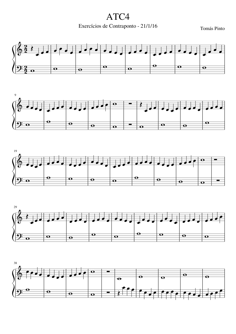 ATC4 sheet music for Piano download free in PDF or MIDI