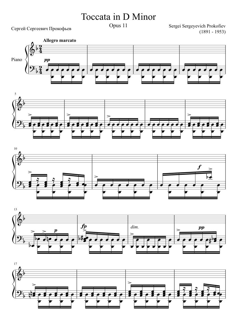 Image result for prokofiev op. 11