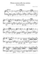 Ninna nanna alla tua anima sheet music arranged by Roberto Guerra for Solo