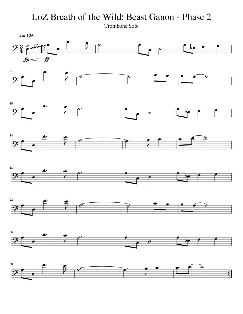 Loz Breath Of The Wild Beast Ganon Phase 2 Trombone