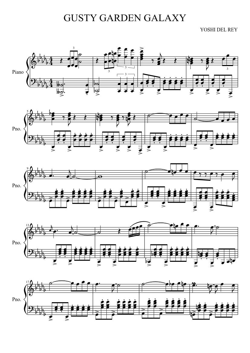 Gusty garden galaxy (piano solo) sheet music download free in pdf.