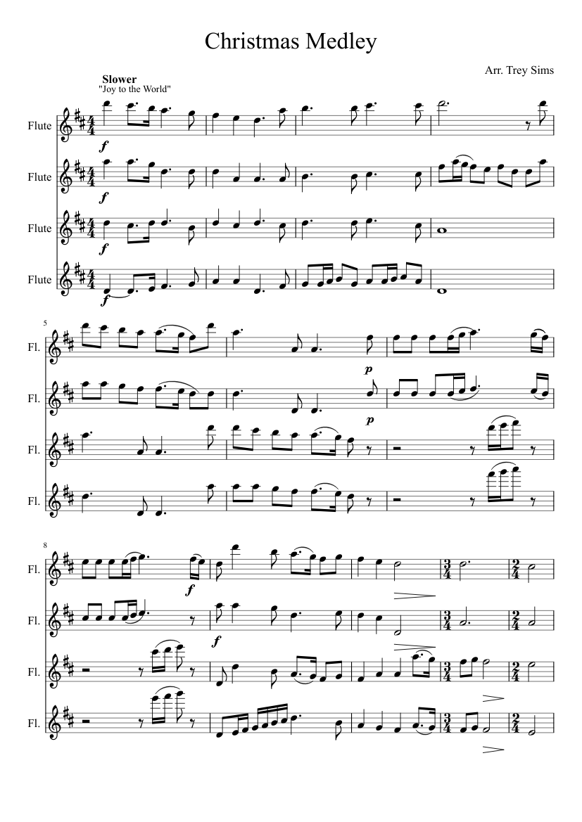graphic about Christmas Carols Sheet Music Free Printable known as free of charge flute xmas tunes