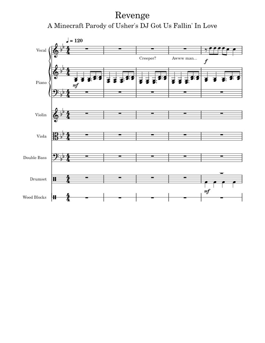 "Revenge"" by CaptainSparklez & TryHardNinja Sheet music for Piano"