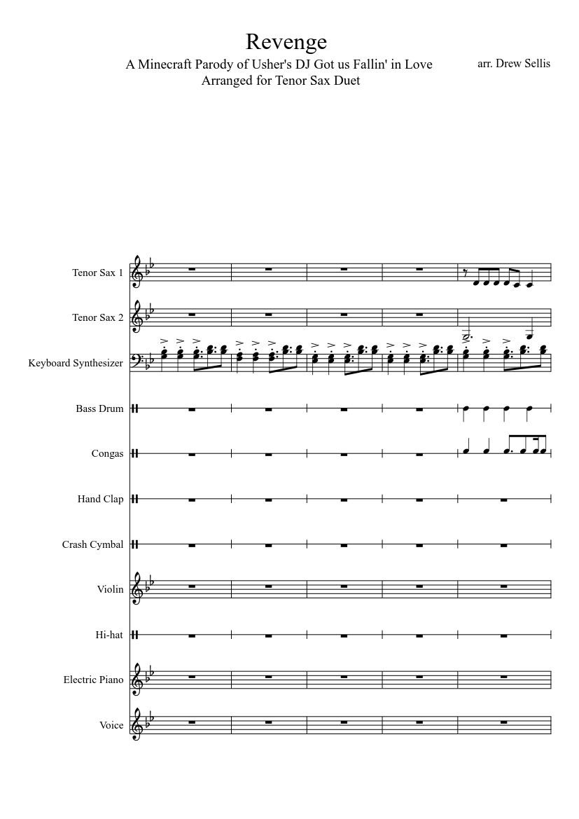 Revenge Minecraft Parody Of Dj Got Us Fallin In Love Sheet Music For Violin Voice Other Mixed Duet Musescore Com Please download one of our supported browsers. revenge minecraft parody of dj got us