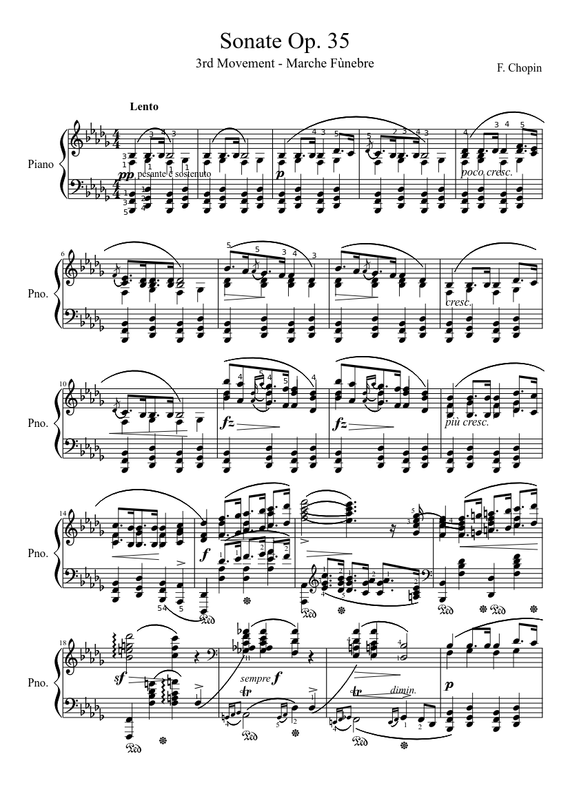 Funeral march for violin and piano sheet music download free in.