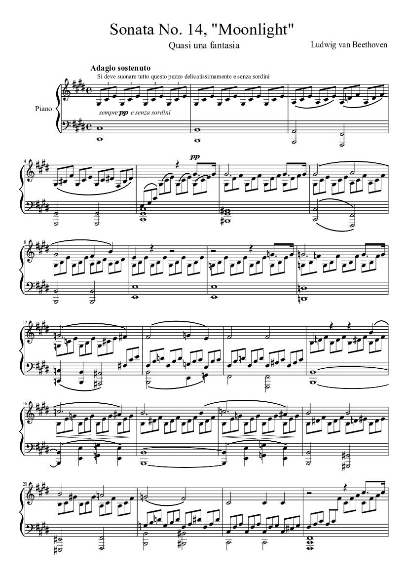 Moonlight Sonata score image