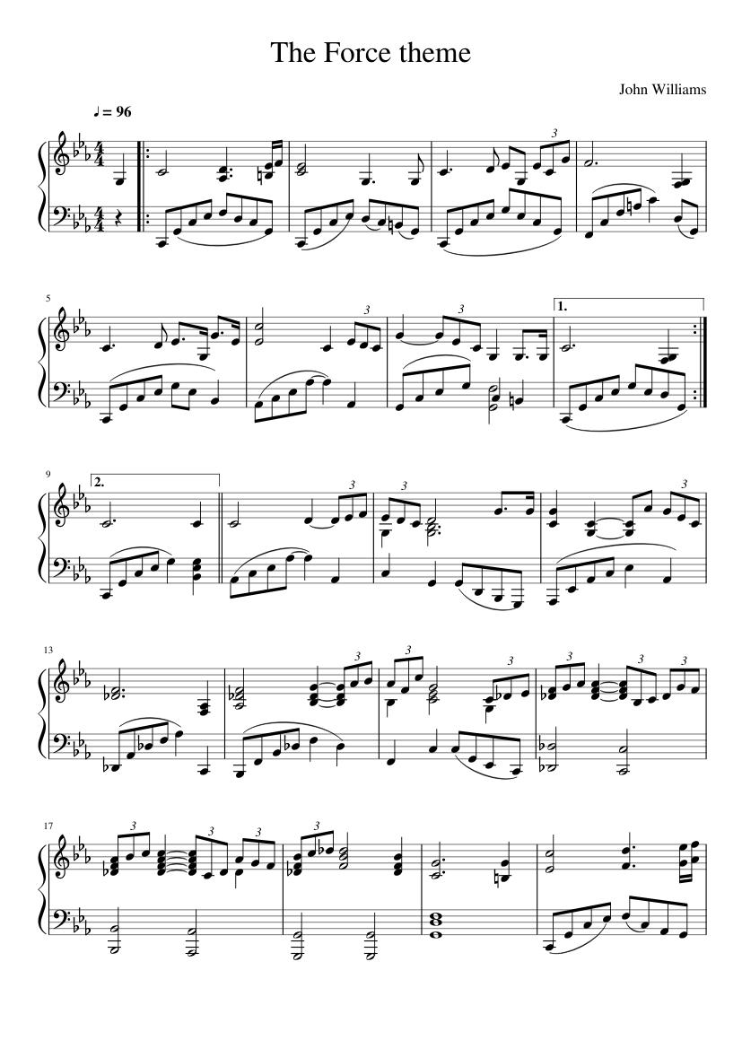 star wars theme song piano sheet music free