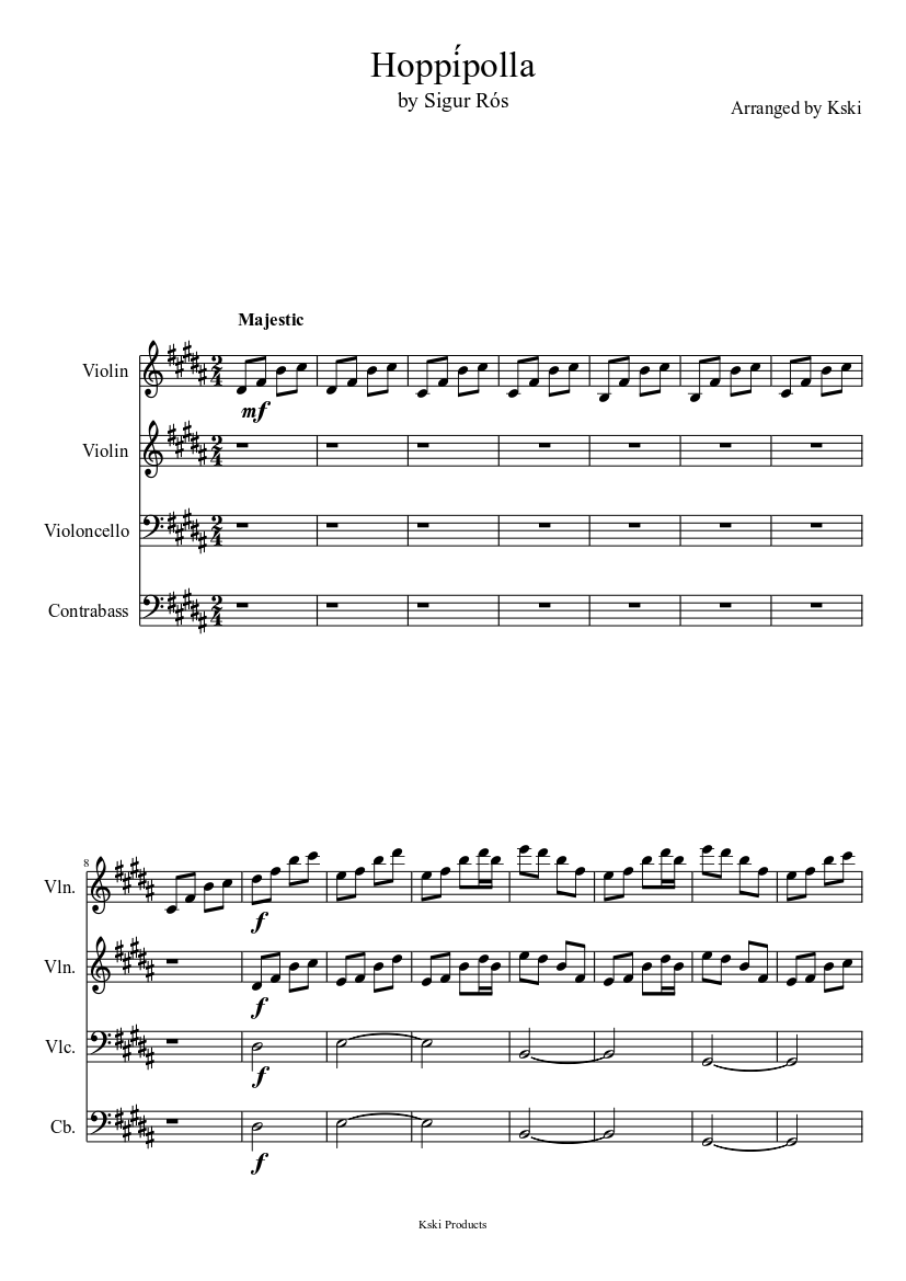 Hoppipolla Sheet Music Free