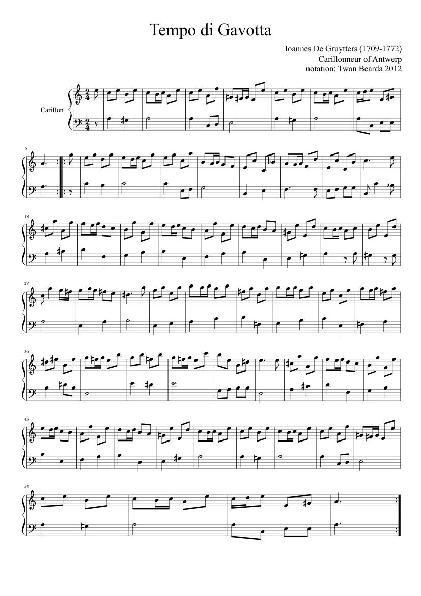 Tempo di gavotta sheet music download free in pdf or midi.
