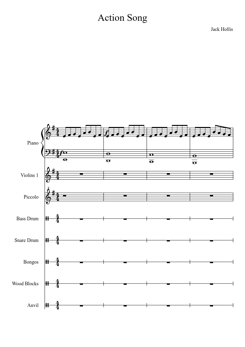 action song sheet music for piano, oboe (solo)   download and print in pdf  or midi free sheet music   musescore.com  musescore.com