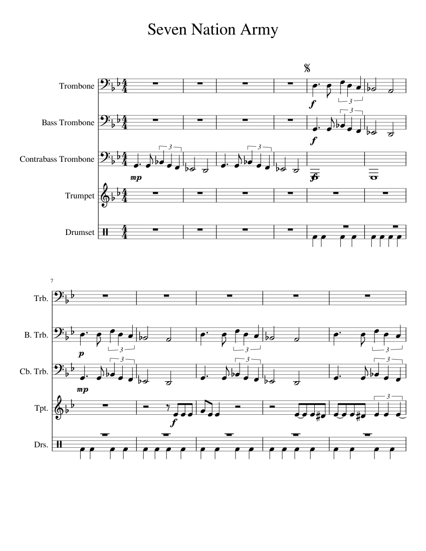 Uploaded On Nov 8 2015 Seven Nation Army Trombone Trio