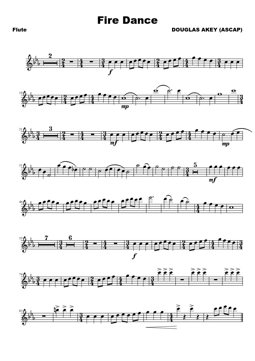 Fire dance sheet music download free in pdf or midi.