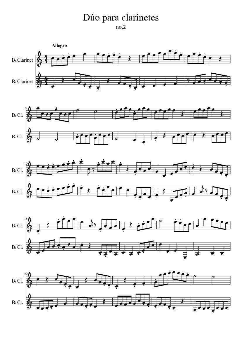 duetos clarinete