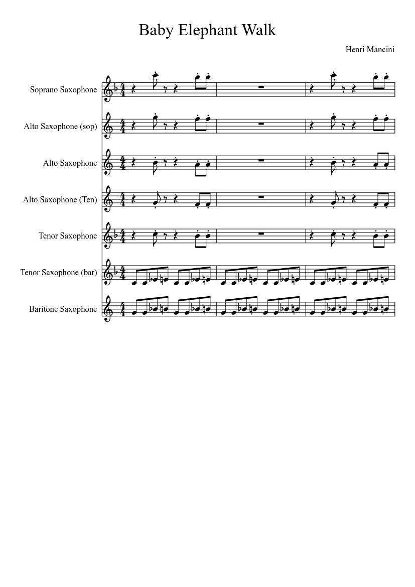 Trouble cage the elephant sheet music for clarinet, guitar, bass.