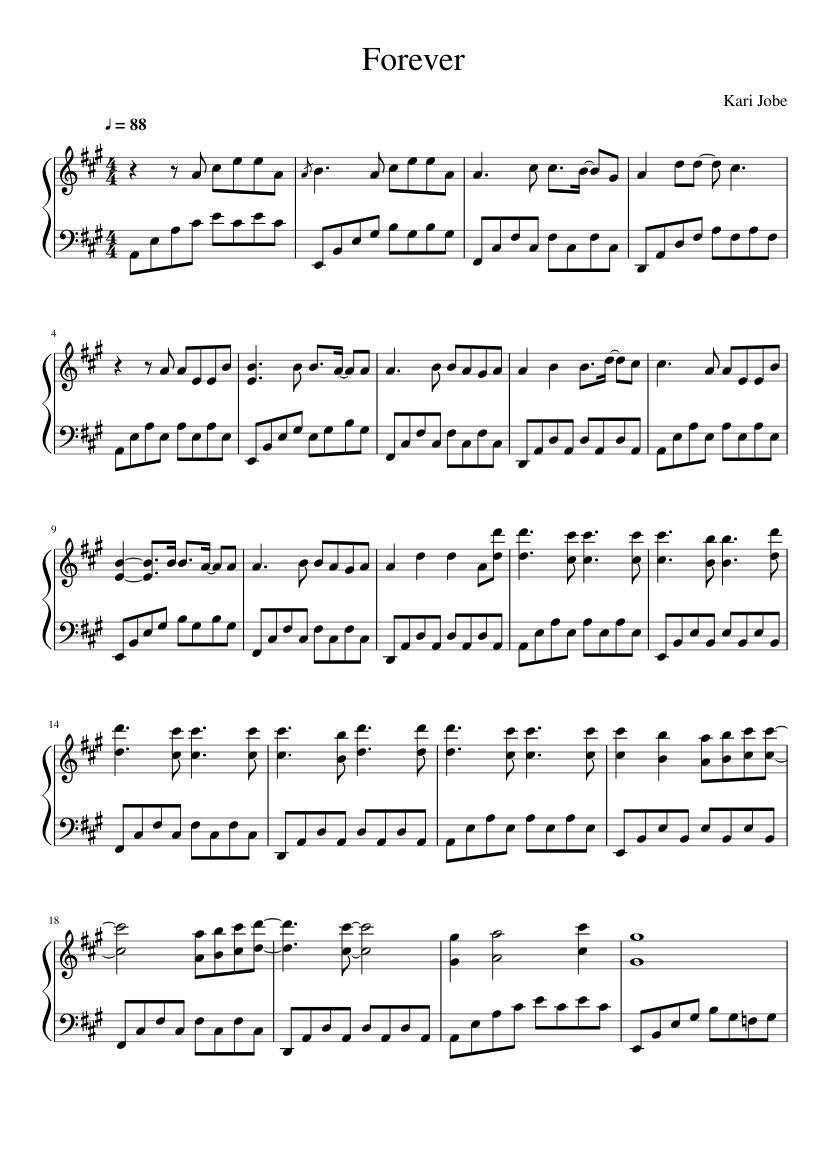Kari Jobe Forever piano sheets