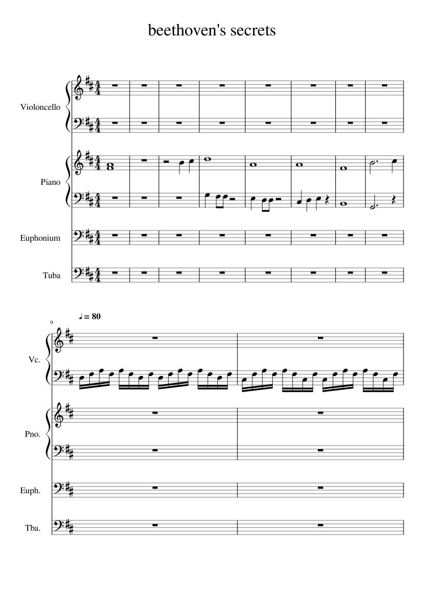 Beethovens 5 Secrets- Violin 1   Classical Music ...
