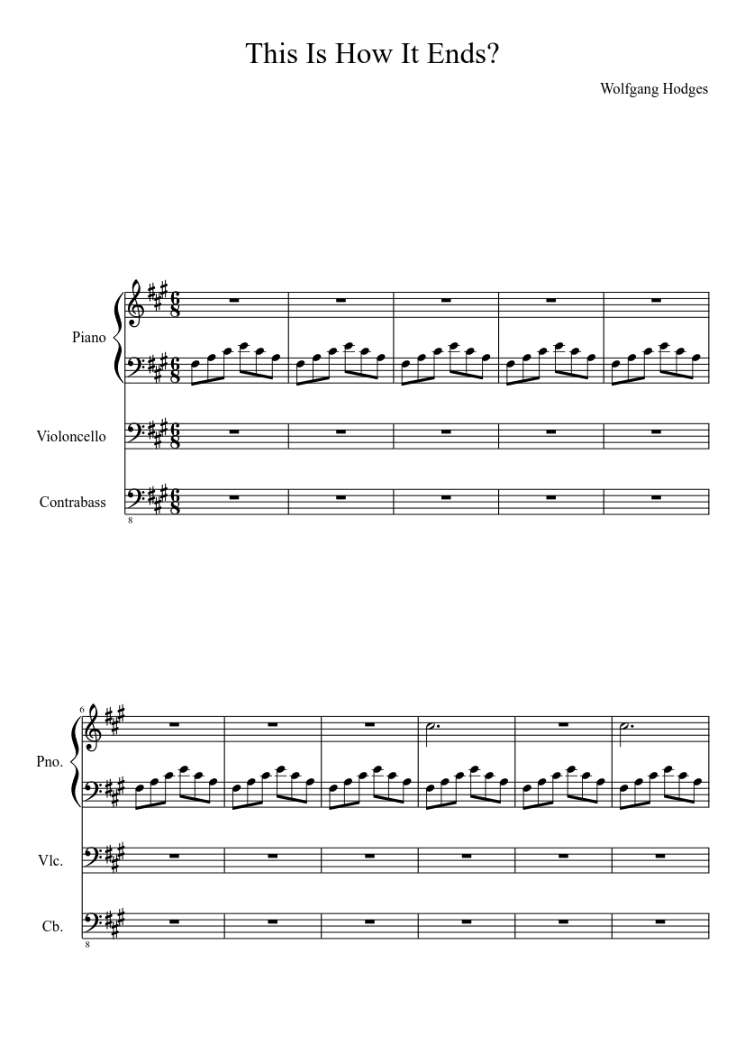 this is how it ends? sheet music for piano, woodwinds (other) (solo)    musescore.com  musescore.com
