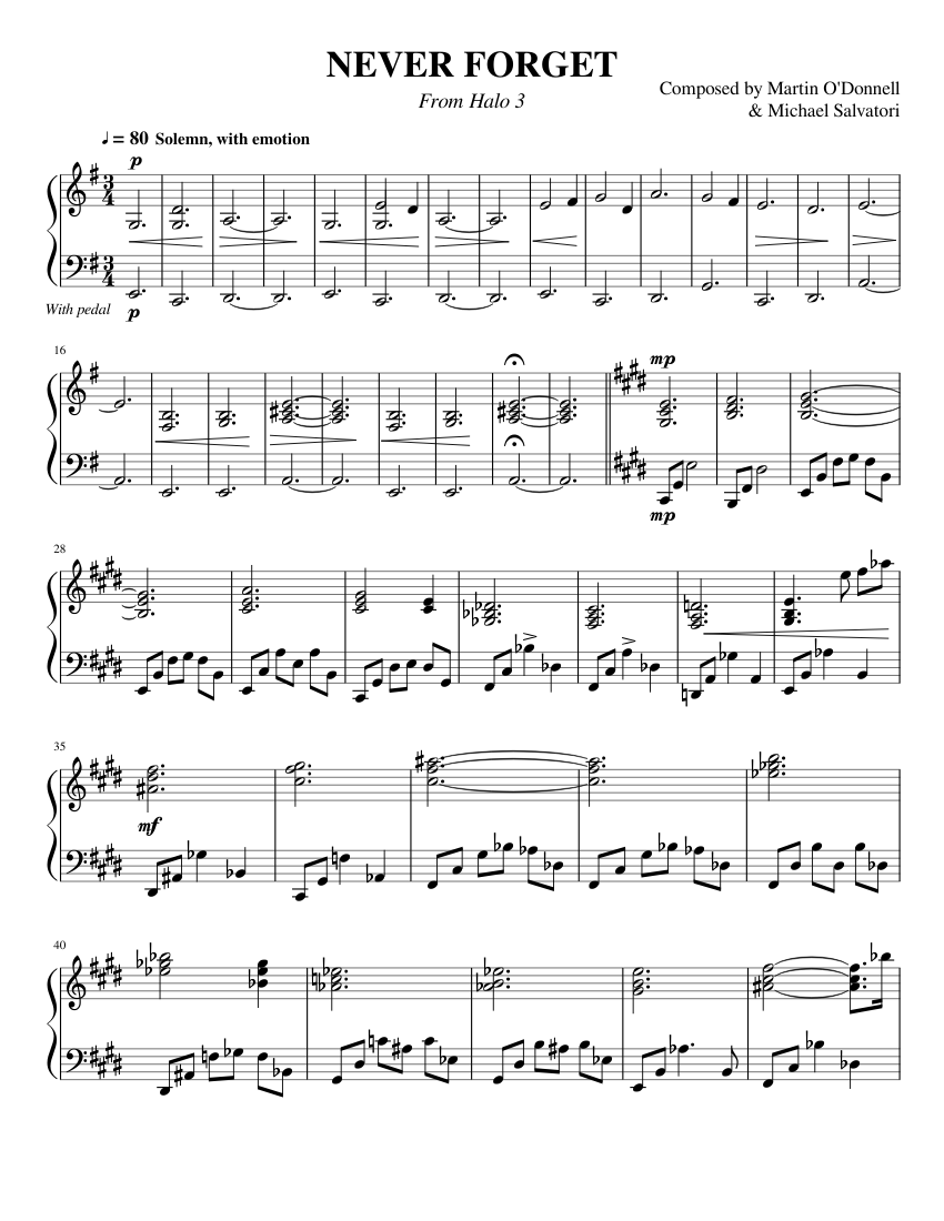 Halo Theme Trumpet Easy Wwwmiifotoscom