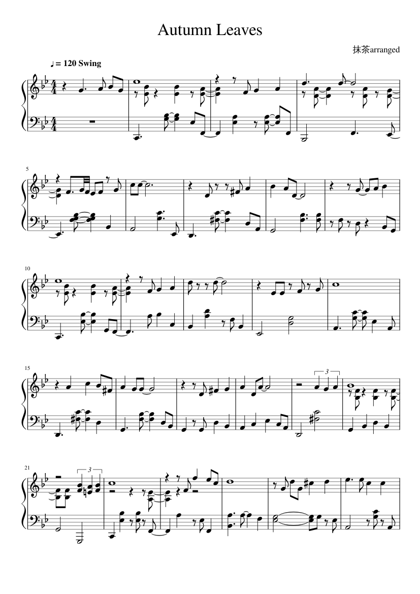 How to apply 10 new piano chords to the jazz tune autumn leaves.