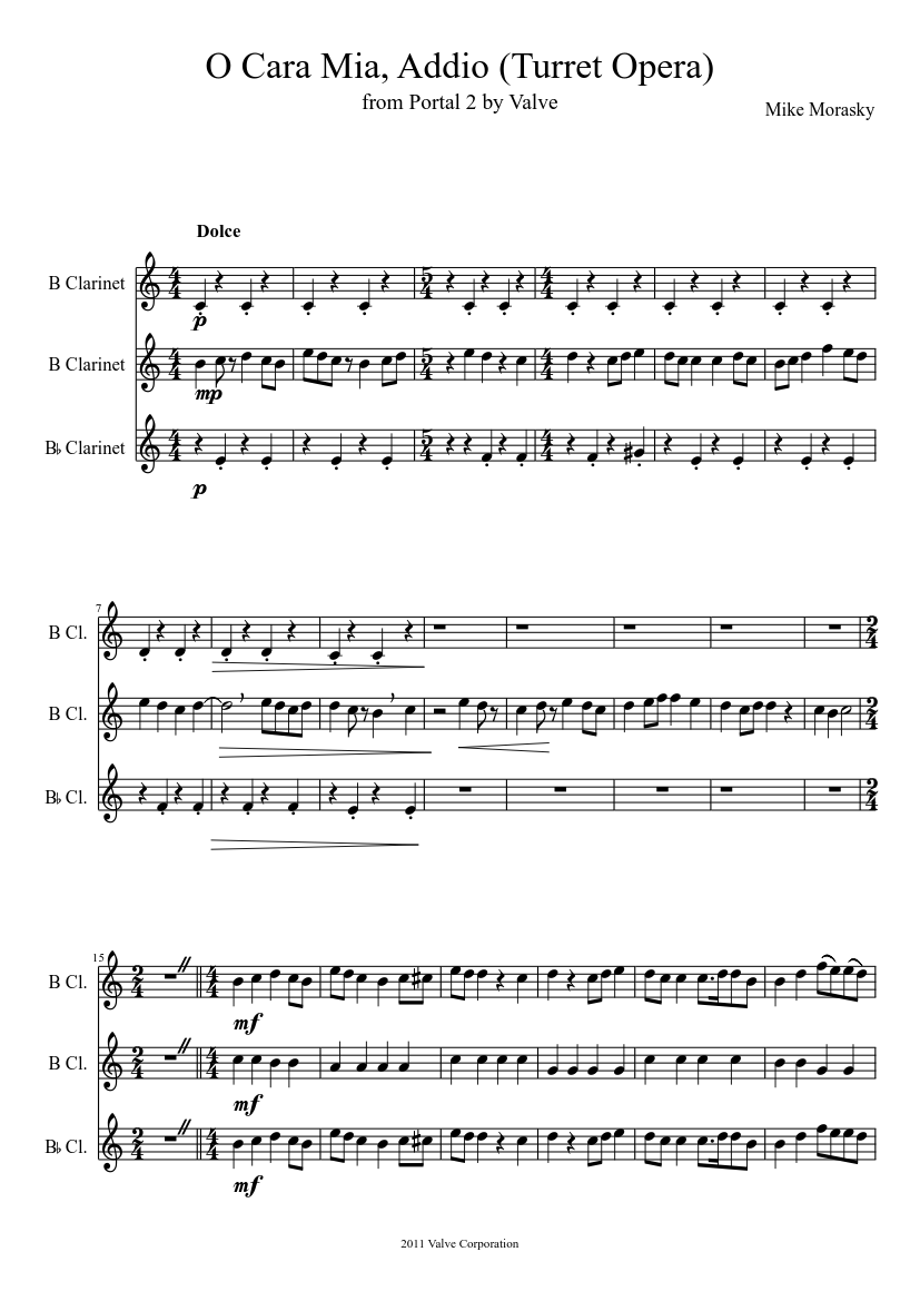 O cara mia, addio (turret opera) sheet music download free in pdf.