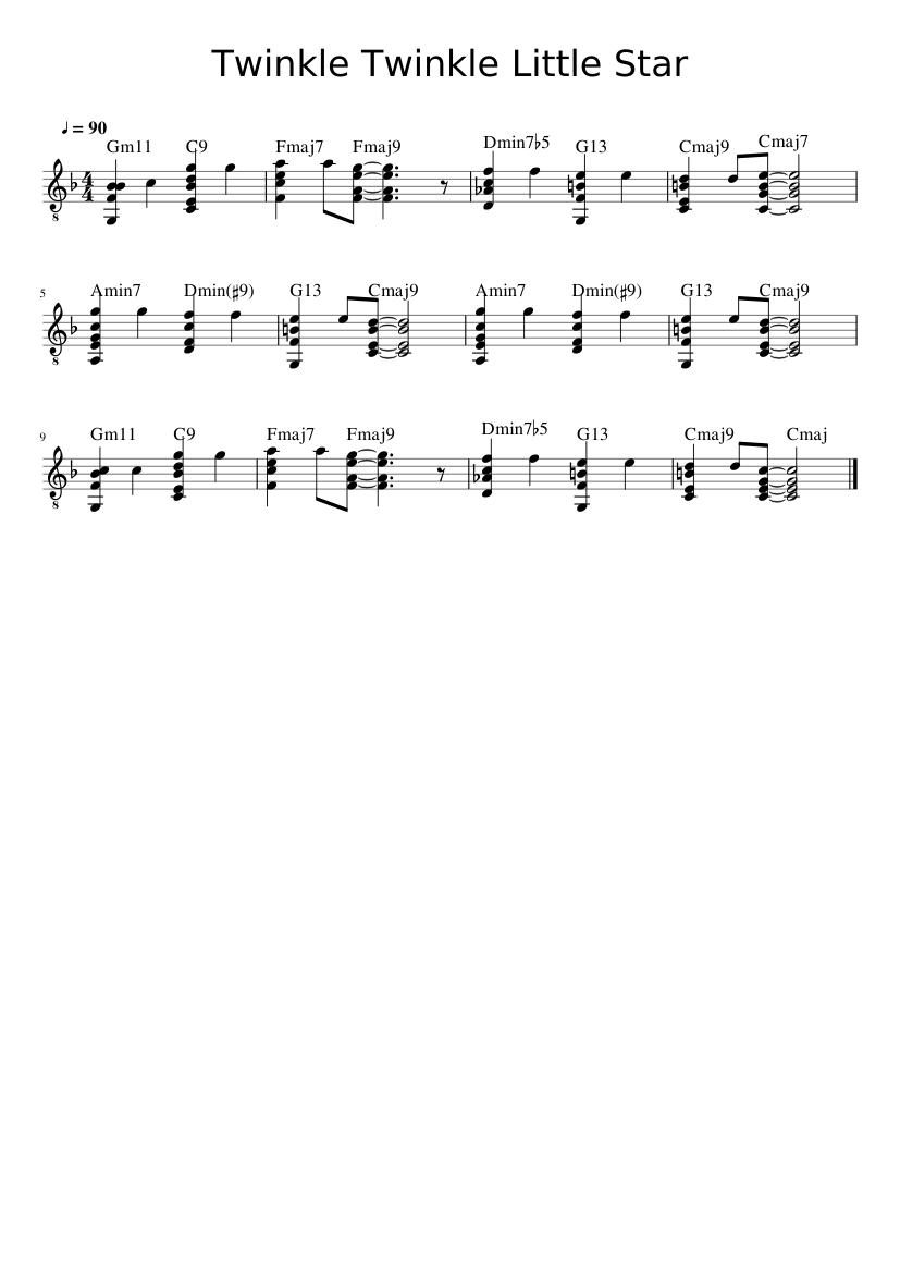 Twinkle Twinkle Little Star Sheet music for Guitar Solo ...