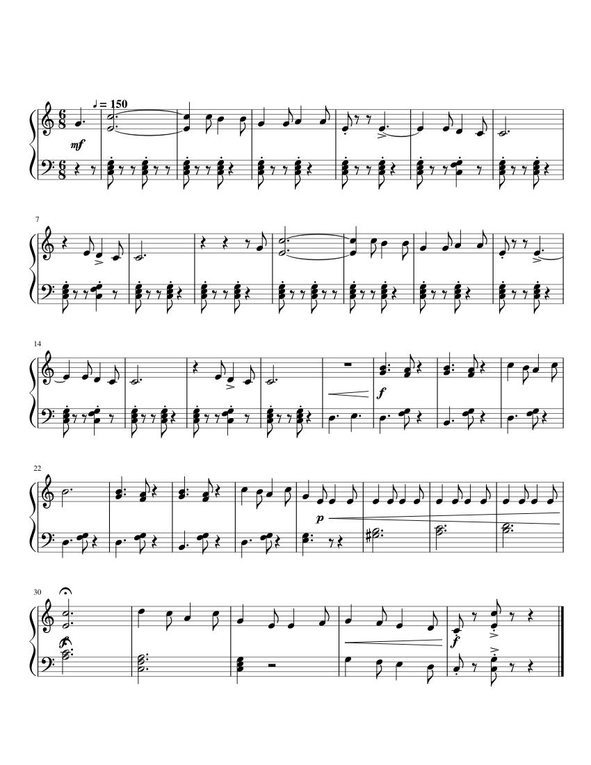フニクリ・フニクラ 無料楽譜2