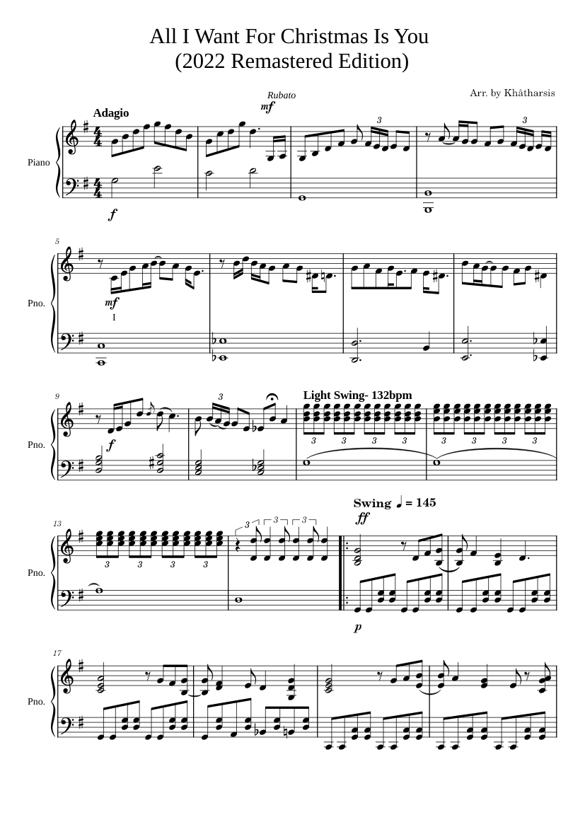 This is a graphic of Adaptable Christmas Piano Sheet Music Pdf