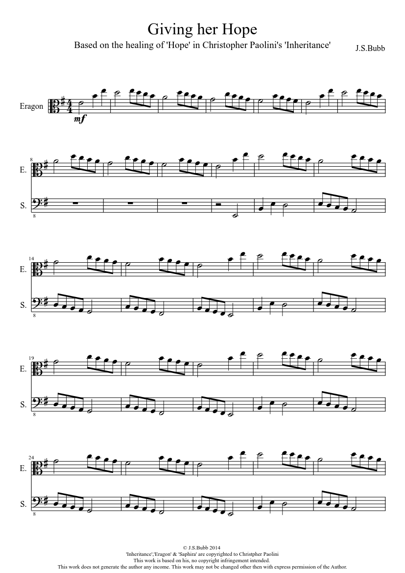 Giving Her Hope Sheet Music Download Free In Pdf Or Midi