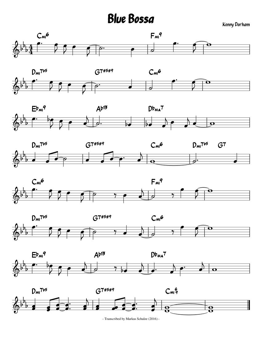 Blue bossa sheet music download free in pdf or midi.
