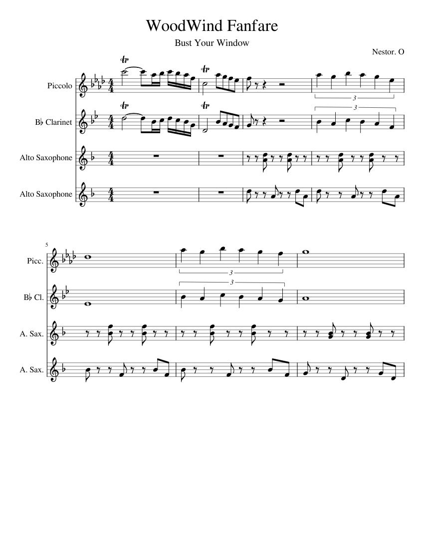 Celebration Fanfare Sheet music for Trombone, Clarinet (In