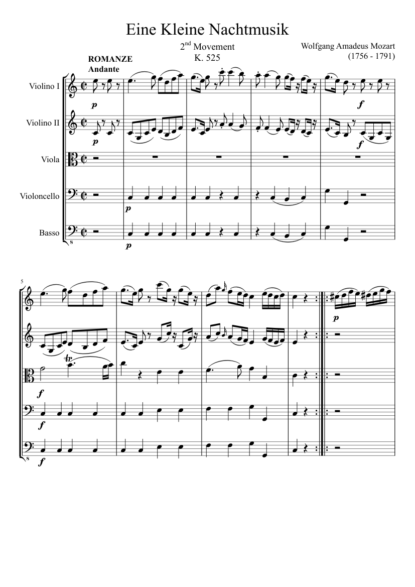 3rd movement from eine kleine nachtmusik for satb (k 525.