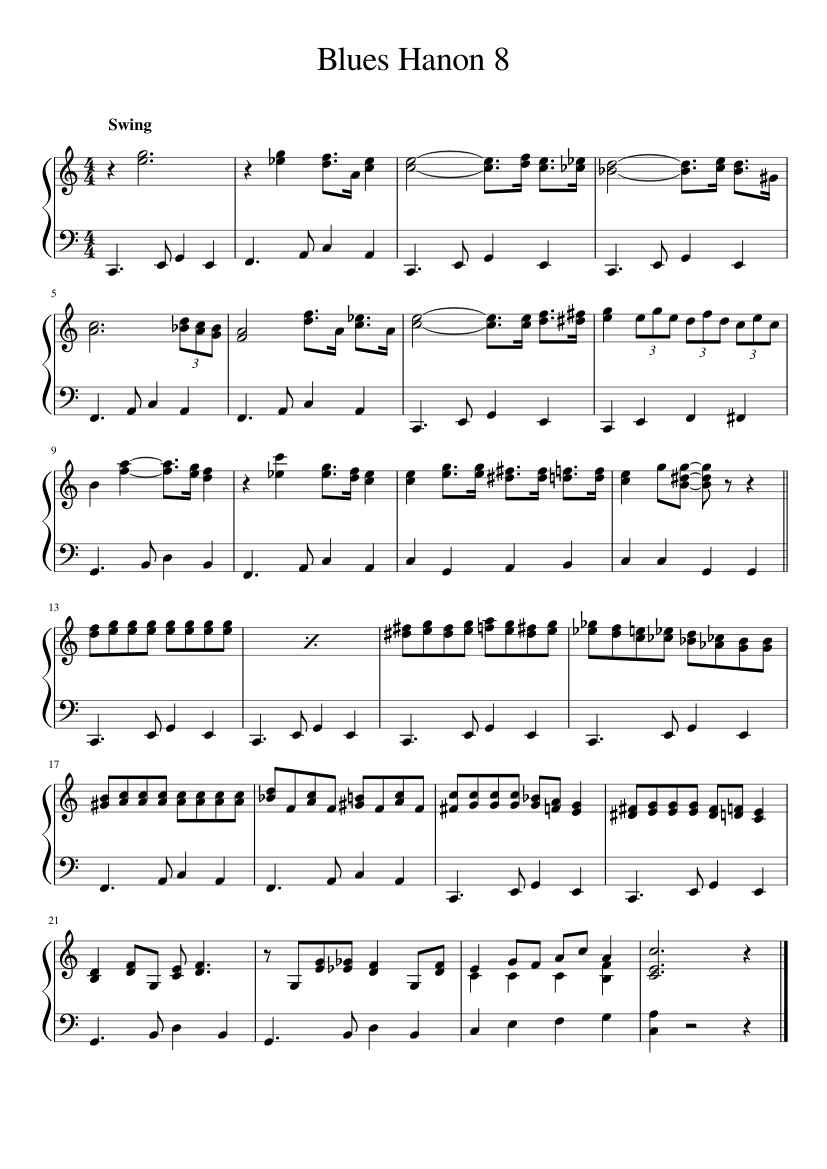 Jazz Hanon Pdf