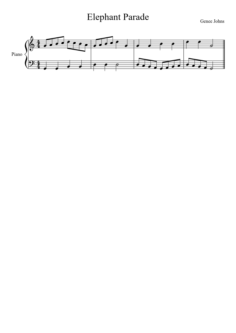 March of the elephant sheet music download free in pdf or midi.